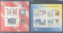 URUGUAY AÑO 1993 SCOTT NRS. 1519-1520 MNH NON DENTELE SIN DENTAR NUEVOS TBE TRES BON ETAT - Uruguay