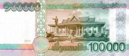 LAOS P. 42 100000 K 2011 UNC - Laos