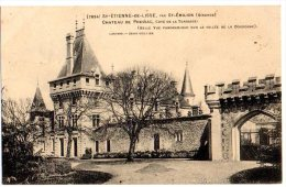 Cpa     St Etienne De Lisse  Par St Emilon Chateau De Pressac Coté De La Terrasse TBE - Saint-Emilion