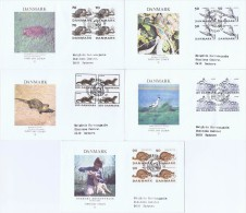 Denmark; 1975; Endangered Species And Animal Protection; WWF.  5 FDC; Block Of 4 With Panda Postmark - FDC