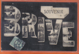 Carte Postale 19. Brive La Gaillarde Souvenir  Trés  Beau Plan - Brive La Gaillarde