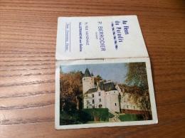 """Calendrier 1964 (4 Pages Intégrés) """"Fleurs BERRODIER VILLEFRANCE (69) / Château Près De Montrichard (41)"""" (9,5x13cm) - Petit Format : 1961-70"""