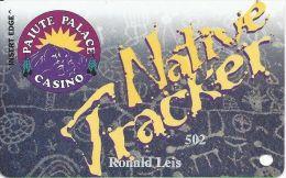 Paiute Palace Casino Bishop CA - PRINTED Players Club Slot Card - Casino Cards