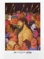 Lote PEP190, Colombia, Postal, Postcard, Fernando Botero, La Pasion De Cristo, Jesus Y La Multitud - Colombia