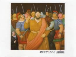 Lote PEP185, Colombia, Postal, Postcard, Fernando Botero, La Pasion De Cristo, Beso De Judas - Colombia