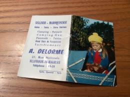 """Calendrier 1964 (8 Pages De Notes Intégrés) """"Sellerie DELORME VILLEFRANCHE (69) / Cliché A.M. BERGER (enfan)"""" (9x12,2cm) - Petit Format : 1961-70"""