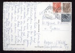 CARTOLINA DA GABICCE PER LA GERMANIA 1955 CON £20+10+5 - 6. 1946-.. Repubblica