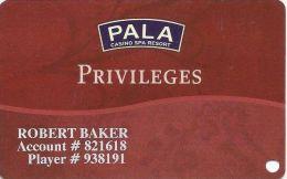 Pala Casino Calif - Slot Card - Casino Cards