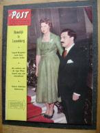 OUD TIJDSCHRIFT MAGAZINE DE POST 1958 N 16 LUXEMBOURG INGRID BERGMAN AGA KHAN MARIA MALETERS MARIA ADELAIDE HENCKEL - Magazines & Newspapers