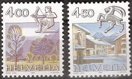 Suiza 1194/1195 ** MNH. 1984 - Schweiz
