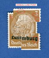 LUXEMBOURG ANNEE 1940 N° 1 HINDENBURG SURCHARGES  OBLITERE 3 SCANNE DESCRIPTION - 1940-1944 Duitse Bezetting