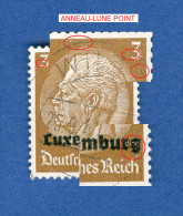 LUXEMBOURG ANNEE 1940 N° 1 HINDENBURG SURCHARGES  OBLITERE 3 SCANNE DESCRIPTION - 1940-1944 Occupation Allemande