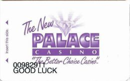 Palace Casino Biloxi MS - Temp Slot Card With GOOD LUCK Printing - Casino Cards
