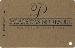 Palace Casino Biloxi MS - BLANK Slot Card - Only 4 Lines Of Text In Reverse Paragraph - Casino Cards