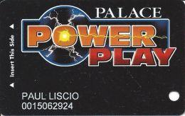 Palace Casino Biloxi MS - Power Play Slot Card - Reverse Text Centered, Not Aligned - Casino Cards