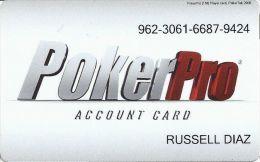 Generic PokerPro Account Card For US Casinos - Casino Cards