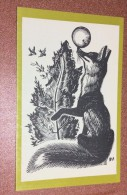 "Vintage Soviet Graphics Postcard 1972 Artist Manuhin. Russian Folktale ""Kolobok"" Fox - Fairy Tales, Popular Stories & Legends"