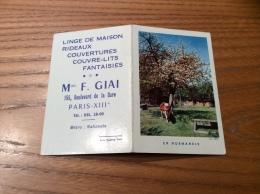 """Calendrier 1960 """"Linge F. GIAI PARIS (75) / Cliché IRIS - EN NORMANDIE (vache)"""" (8,9x12cm) - Calendriers"""
