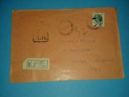 6179 1975 SIRACUSANA L300 Isolato Raccomandata Interno Cover Storia Postale - 1946-.. République