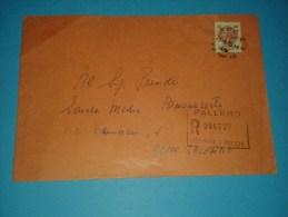 6180 1976 SIRACUSANA L400 Isolato Raccomandata Interno Cover Storia Postale - 1946-.. République
