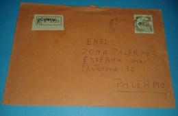 6209 1982 CASTELLI L900 Isolato Raccomandata Interno Cover Storia Postale - 1946-.. République