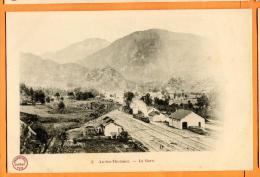 PCE-21  Ax-les-Thermes  La Gare, Train. Précurseur. Non Circulé - Ax Les Thermes
