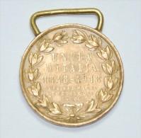 MEDAGLIA 1.a GUERRA MONDIALE RICORDO DELL'UNITA' D'ITALIA 1848/1918 - 1914-18
