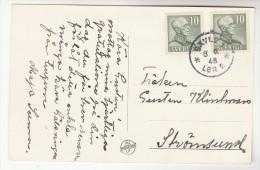 1948 SWEDEN Stamps COVER (photo Postcard GAVLE Regimentsparken ) - Sweden