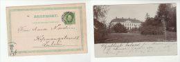 1906 Skinnskatteberg  SWEDEN Stamps COVER (photo Postcard Large HOUSE) - Sweden