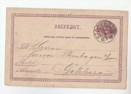 1886 Stockhom SWEDEN Postal STATIONERY CARD Aktiebolaget Separator Cover Stamps - Postal Stationery