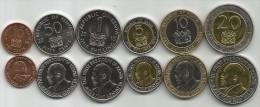 Kenya 1995 - 2010. Set Of 6 Coins UNC - Kenya