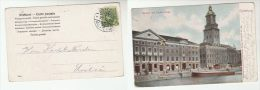 1904 SWEDEN Stamps COVER (postcard Tyska Museum) - Sweden