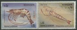 Bangladesch 1991 Garnelen Zusammendruck 411/12 ZD Postfrisch - Bangladesch