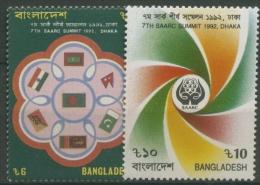 Bangladesch 1992 Regionale Kooperation Südasien 436/37 Postfrisch - Bangladesch