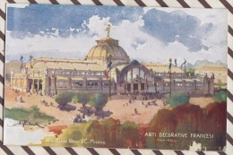 6AI882 ILLUSTRATEUR PALANTI EXPOSITION 1906 MILANO ARTI DECORATIVE FRACESI  2 SCANS - Illustrateurs & Photographes