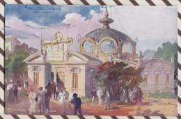 6AI883 ILLUSTRATEUR PALANTI EXPOSITION 1906 MILANO PADIGLIONE STAMPA 2 SCANS - Illustrateurs & Photographes