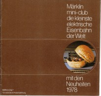 Märklin Mini Club - Neuheiten Katalog 1978 - Z Scale