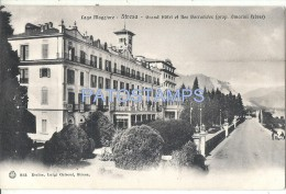 32098 ITALY STRESA LAGO MAGGIORE GREAT HOTEL AND BORROMEAN ISLANDS POSTAL POSTCARD - Italia