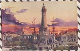 6AI887 ILLUSTRATEUR PALANTI EXPOSITION 1906 MILANO MARINA 2 SCANS - Illustrateurs & Photographes