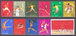 China PR 1965 Mi 903-913 2nd National Sports Games / 2. Nationale Sportspiele **/MNH RAR! - 1949 - ... Repubblica Popolare