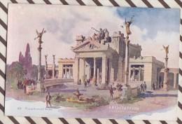 6AI888 ILLUSTRATEUR PALANTI EXPOSITION 1906 MILANO ARCHITETTVRA 2 SCANS - Illustrateurs & Photographes