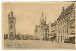 Ern Thill Postcard, Ypres, Grand Place Et Hotel De Ville, Yper, Groote Plaats En Stadhuis, Market Place And Town Hall - Ieper