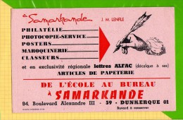 BUVARD & Blotting Paper :De L'ecole Au Bureau  SAMARKANDE DUNKERQUE - Papeterie