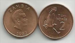 Zambia  2 Ngwee 1983. UNC - Zambia