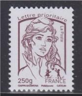 Marianne Et La Jeunesse Gommé Lettre Prioritaire -250g France  N° 4773 Brun-prune Neuf - 2013-... Marianne De Ciappa-Kawena