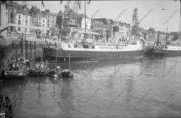 P77 - Navires Dans Le Port De Dieppe 76 - Négatif Photo Ancien - Bateaux