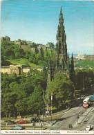 O2015 Edinburgh - The Scott Monument - Princes Street - Auto Cars Voitures Bus Autobus / Viaggiata 1979 - Midlothian/ Edinburgh