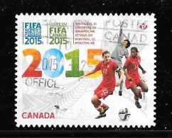 CANADA, 2015, USED,  #2837,  FIFA WOMEN´S WORLD CUP CANADA 2015 .  From Bklet USED - 1952-.... Règne D'Elizabeth II