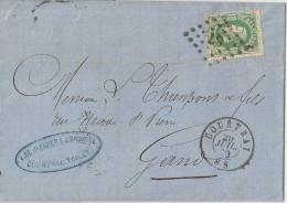 _5pk392: N°30: Ps: 87: COURTRAI > Gand - 1869-1883 Leopold II.