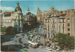 O2020 Madrid - Palacio De La Union Y El Fenix - Avenida De José Antonio - Auto Cars Voiteres Bus / Viaggiata 1964 - Madrid